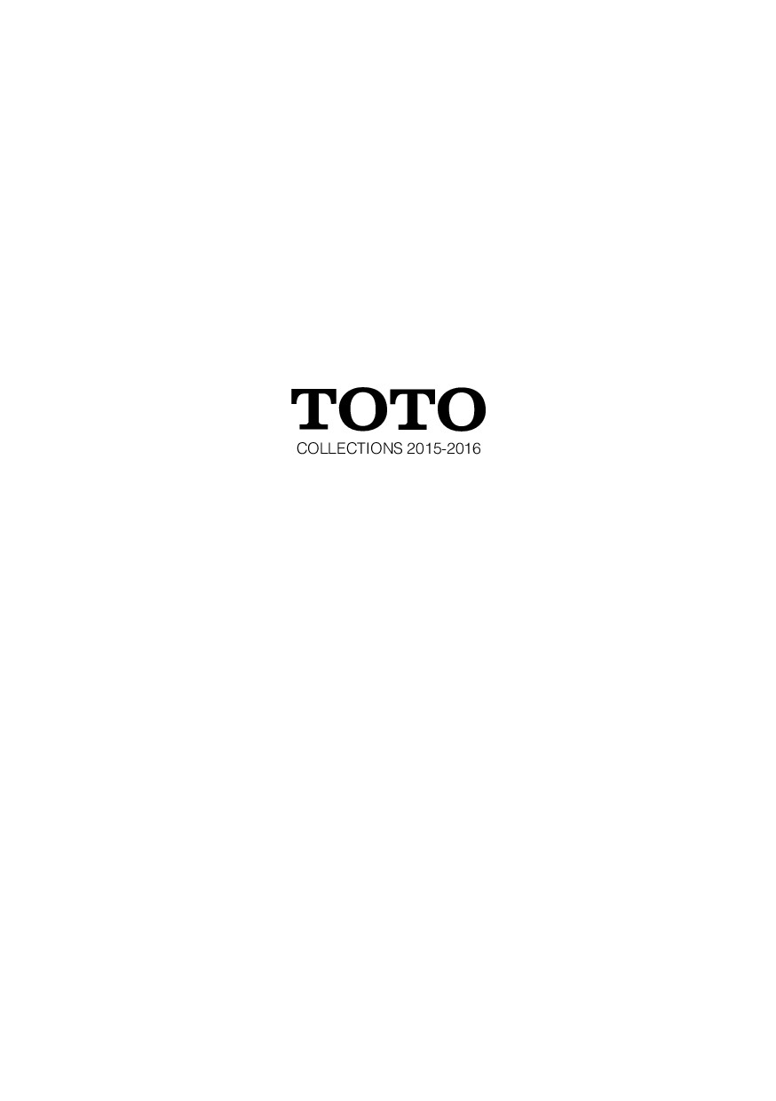 TOTO Products Catalogue