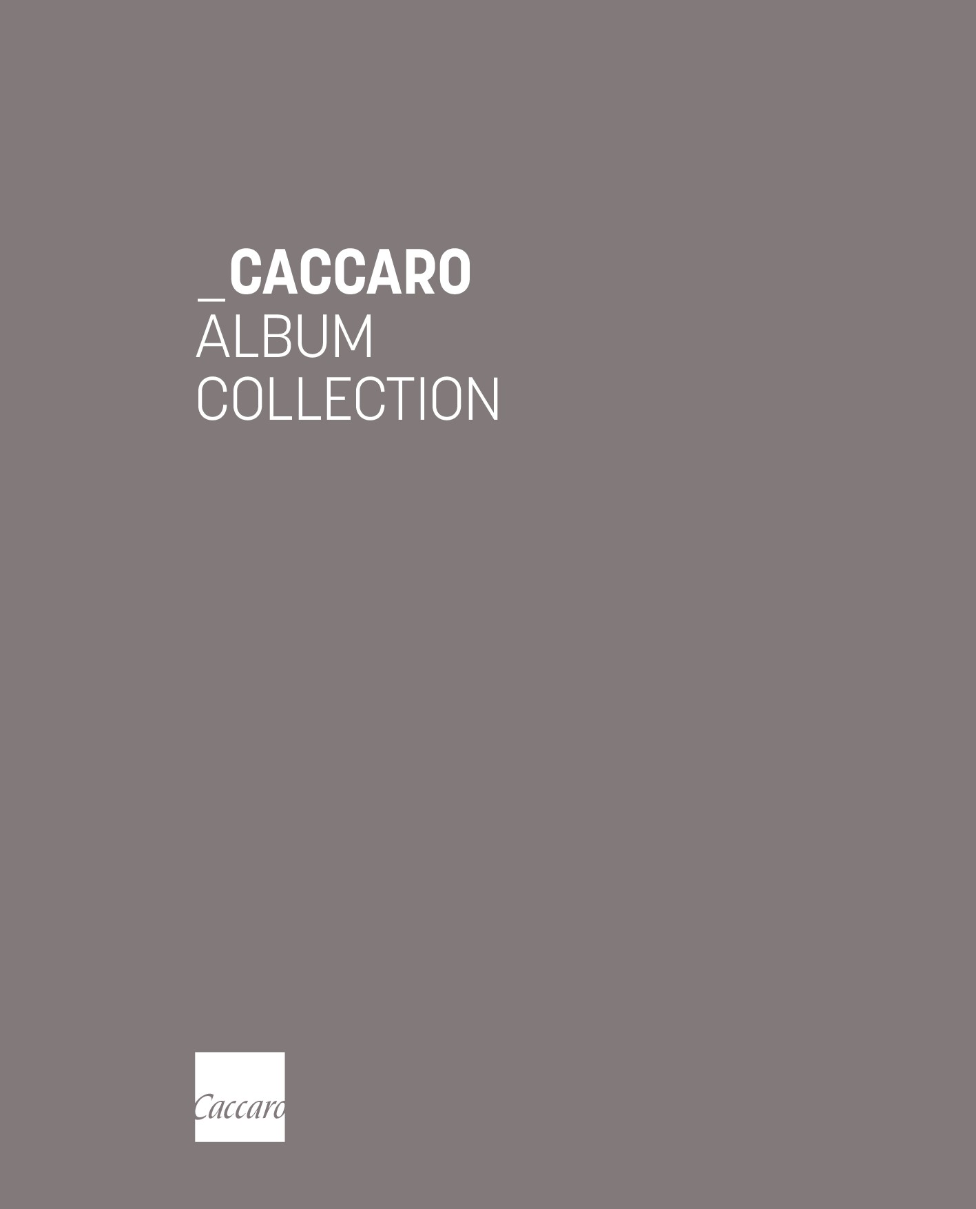 Caccaro Products Catalogue